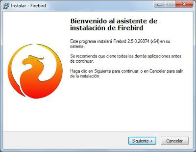 Instalar Firebird 2.5 x64 en un equipo con Microsoft Windows 7 x64