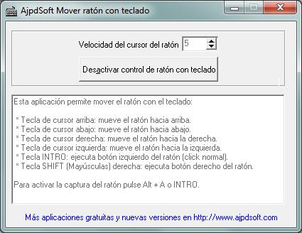 AjpdSoft Mover ratón con teclado Código Fuente Delphi 6