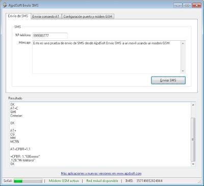 AjpdSoft Envío SMS puerto serie módem GSM Código Fuente VB Net