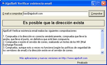 AjpdSoft Verificar existencia email Código Fuente Delphi 6