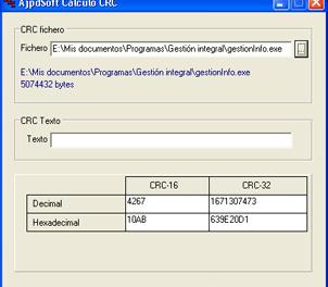 AjpdSoft Cálculo CRC