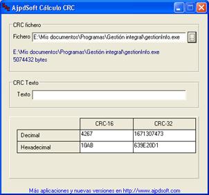 AjpdSoft Cálculo CRC Código Fuente Delphi 6