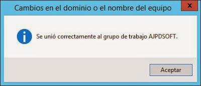 Nombre DNS hostname del equipo W2012 y grupo de trabajo