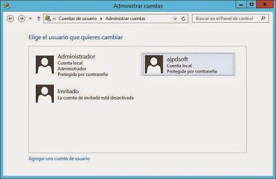 """Crear usuario administrador en W2012 para no usar el propio usuario """"administrador"""""""