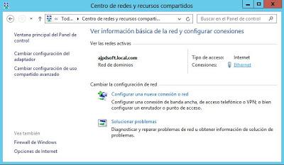 Establecer dirección IP estática en servidor Windows Server 2012
