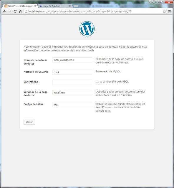 Descarga e instalación del CMS WordPress 4.1.1