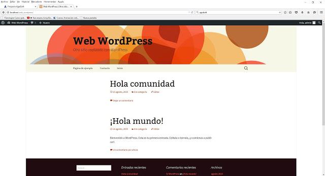 Crear un menú en WordPress