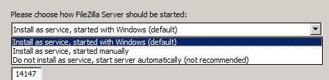 Descarga e instalación de FileZilla Server en Microsoft Windows Server 2008