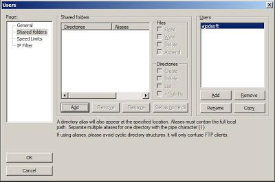 Administración de FileZilla Server, crear usuarios
