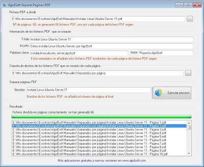 AjpdSoft Separar Páginas PDF Código Fuente C Sharp Net