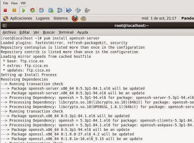 Instalar OpenSSH en Linux CentOS 6