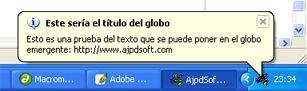 Mostrar globo, iconizar, insertar botón en barra de título (Delphi)