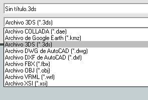 Exportar la pieza en formato 3ds