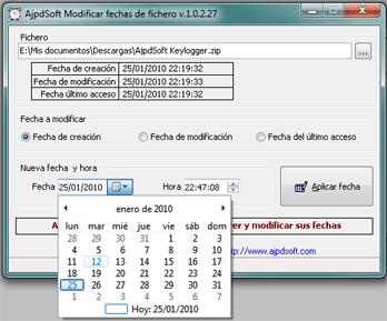AjpdSoft Modificar fechas de fichero Código Fuente Delphi 6