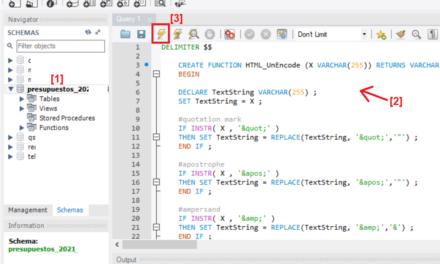 Agregar función a MySQL 5 para usarla en consulta SQL SELECT de decodificación HTML