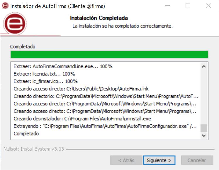 Descargar e instalar AutoFirma
