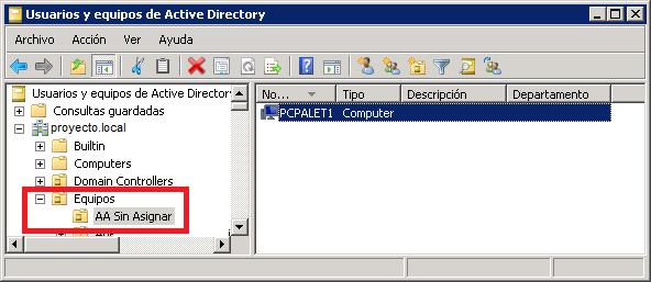 Cómo funciona la aplicación de consola MS-DOS en C# que mueve equipos de un contenedor a una UO en el Active Directory