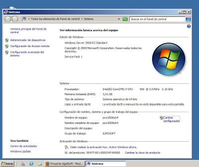 Equipo con sistema operativo Microsoft Windows Server 2008