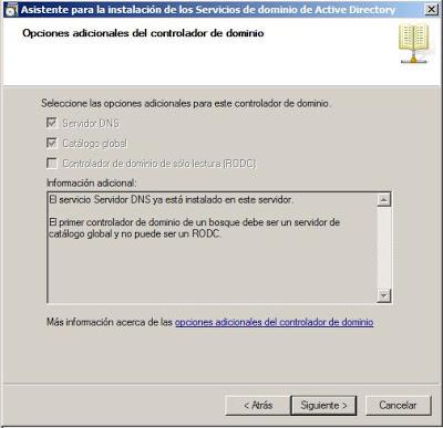 Promocionar equipo Windows Server 2008 a controlador de dominio (dcpromo)