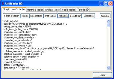 AjpdSoft Módulo Utilidades BD MySQL para Delphi