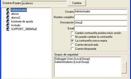 AjpdSoft Obtención datos Active Directory