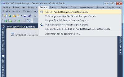 Generar ejecutable de servicio en Visual Basic .Net