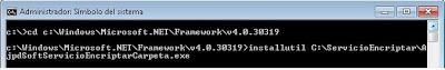 Instalar servicio de Windows desarrollado con VB.Net