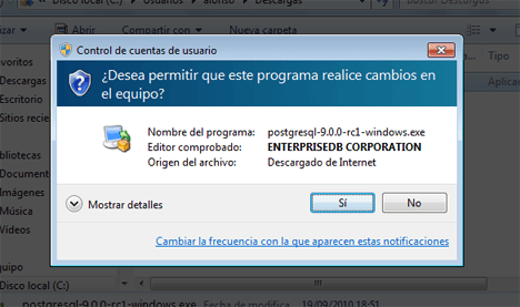 Cómo descargar e instalar PostgreSQL 9 en Microsoft Windows 7