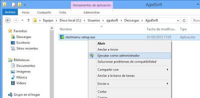 Mostrar botón inicio en Windows 8 con Start Menu 8
