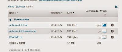 Descarga de librerías Java Jackcess, Apache Commons Lang, Apache Commons Logging para acceso a base de datos Microsoft Access mediante Java