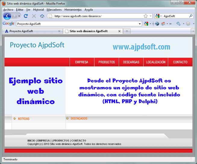 Cómo crear un sitio web con secciones dinámicas con HTML, PHP, Delphi y MySQL