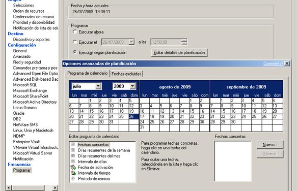 Instalar agente de Symantec Backup Exec en WXP copia de Oracle