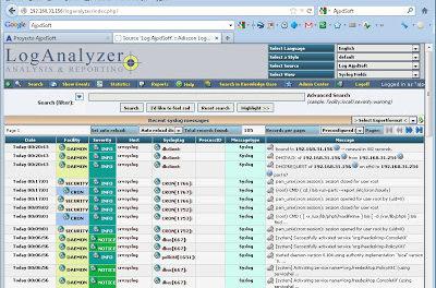 Montar servidor de log gratuito con Rsyslog, MySQL y LogAnalyzer