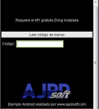 AjpdSoft Lector Códigos de Barras Android en Google App Inventor