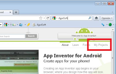Elementos más importantes del entorno de Google App Inventor