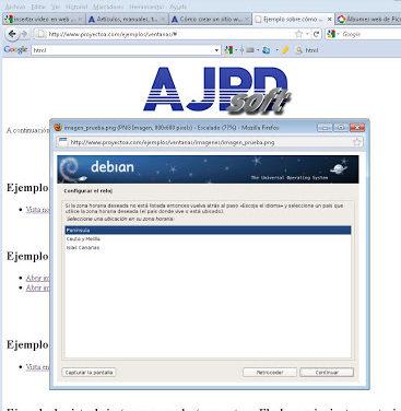 Código HTML y JavaScript para mostrar imagen en ventana Flash