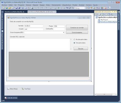 Acceso nativo a MySQL Server con VB.Net usando el driver Connector Net