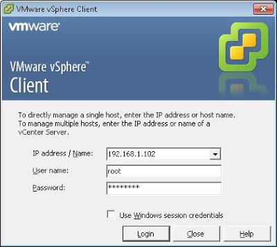 Crear equipo virtual en VMware ESXi con VMware vSphere Client