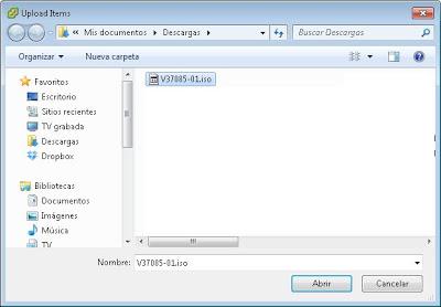 Configurar arranque desde fichero ISO en VMware ESXi