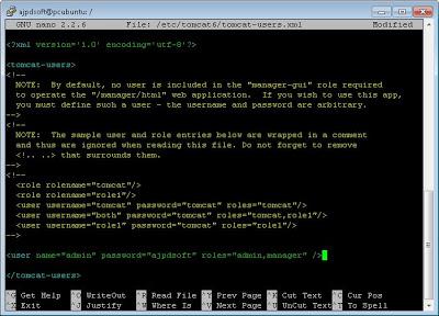 Servidor de aplicaciones web con Tomcat Java Server