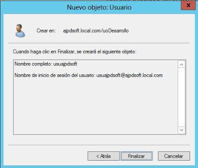 Crear usuario en Active Directory y asignar permisos para Escritorio Remoto
