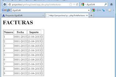 Mi primera aplicación web en PHP con acceso a MySQL usando Symfony 2