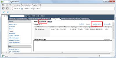 Añadir disco duro a VMware ESXi añadir datastore