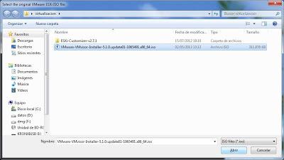 Fichero ISO de instalación de VMware ESXi 5.1