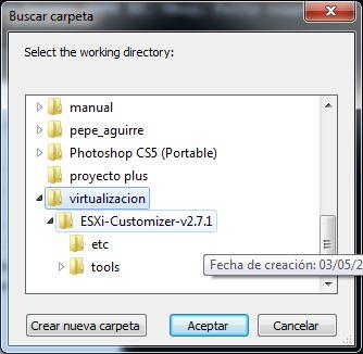 Añadir drivers a fichero ISO de instalación de VMware ESXi 5.1 con ESXi-Customizer
