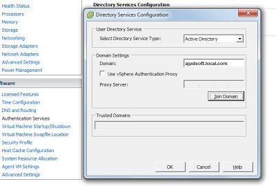Agregar ESXi a dominio Windows, establecer permisos de ESX a grupo de seguridad de Windows