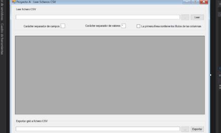 Leer fichero CSV de texto con aplicación Visual Studio .Net C#  C Sharp
