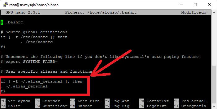 Crear Alias permanente en Linux CentOS y Red Hat