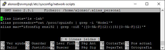 Crear alias con varios comandos en Linux