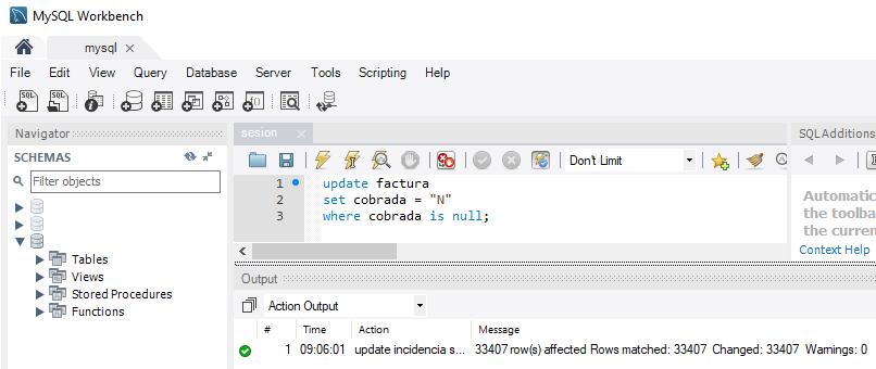 Desactivar Safe Mode en MySQL Workbench para poder ejecutar consultas SQL Update y Delete